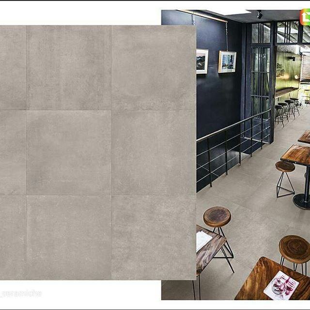 Betonstil, her i fargen Mid, nydelig betong look. #norfloor #terratintastyle