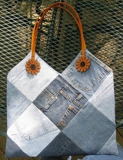 Awesome Denim purse! made from old jeans