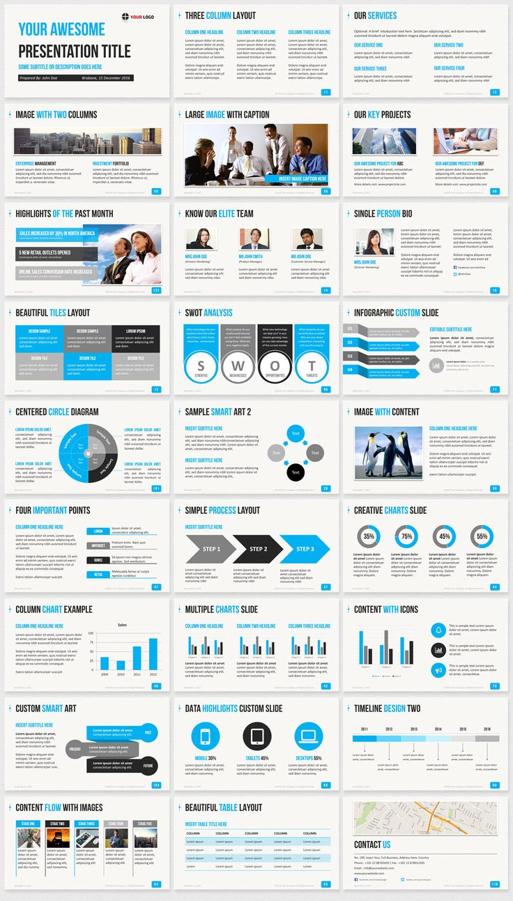 Business PowerPoint Template blue Slide thumbnails