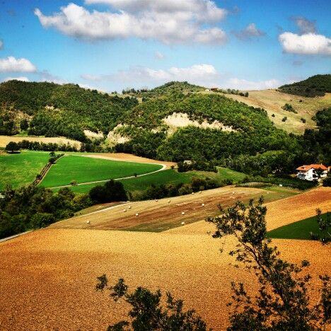 Tipico paesaggio #Piceno #terredelpiceno #marchetourism #destinazionemarche #piceno #picenopass #marche