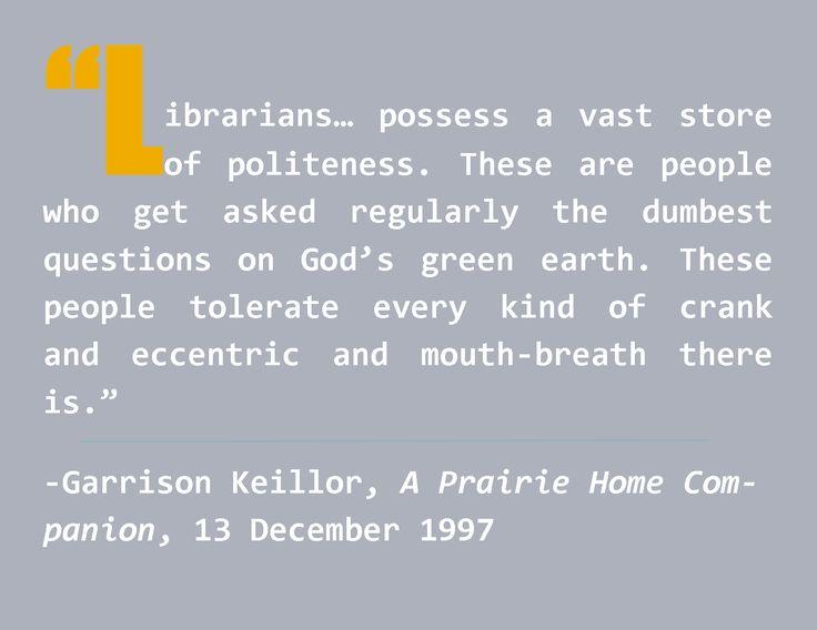 Garrison Keillor - Librarians