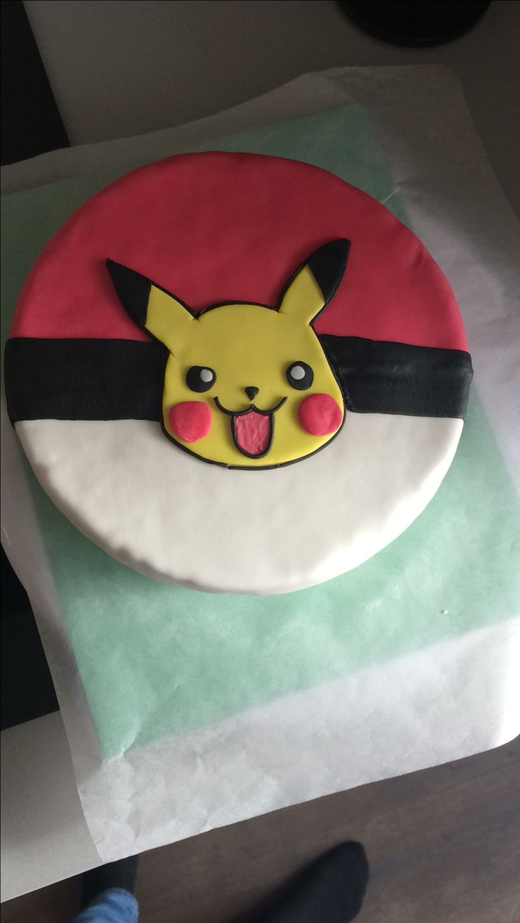 Pokémon / Pikachu cake in progress.