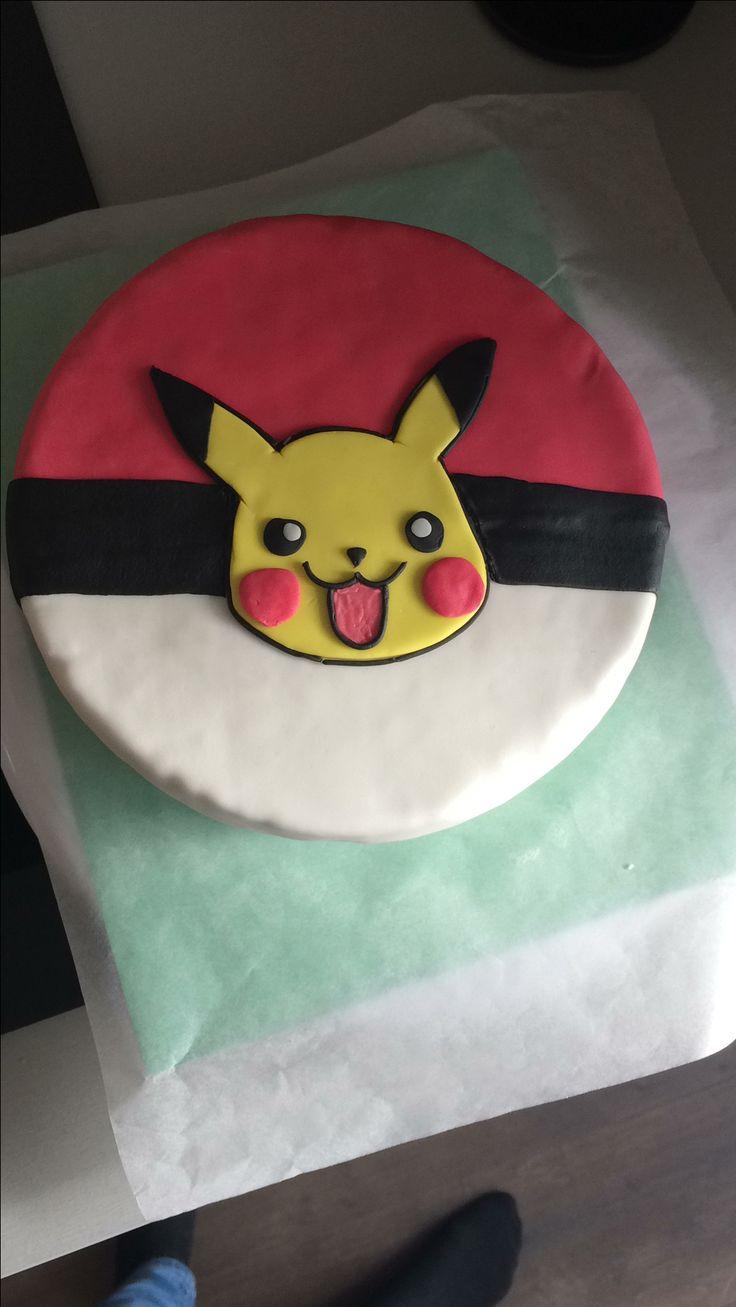 Pokémon / Pikachu cake in progress.