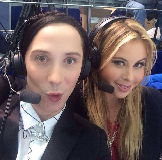 TAKE THAT SELFIE. | Why Johnny Weir And Tara Lipinski Are The Greatest Commentating Duo Ever