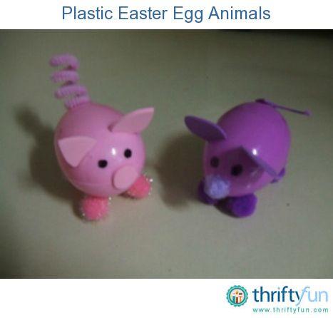 Plastikosterei-Tiere