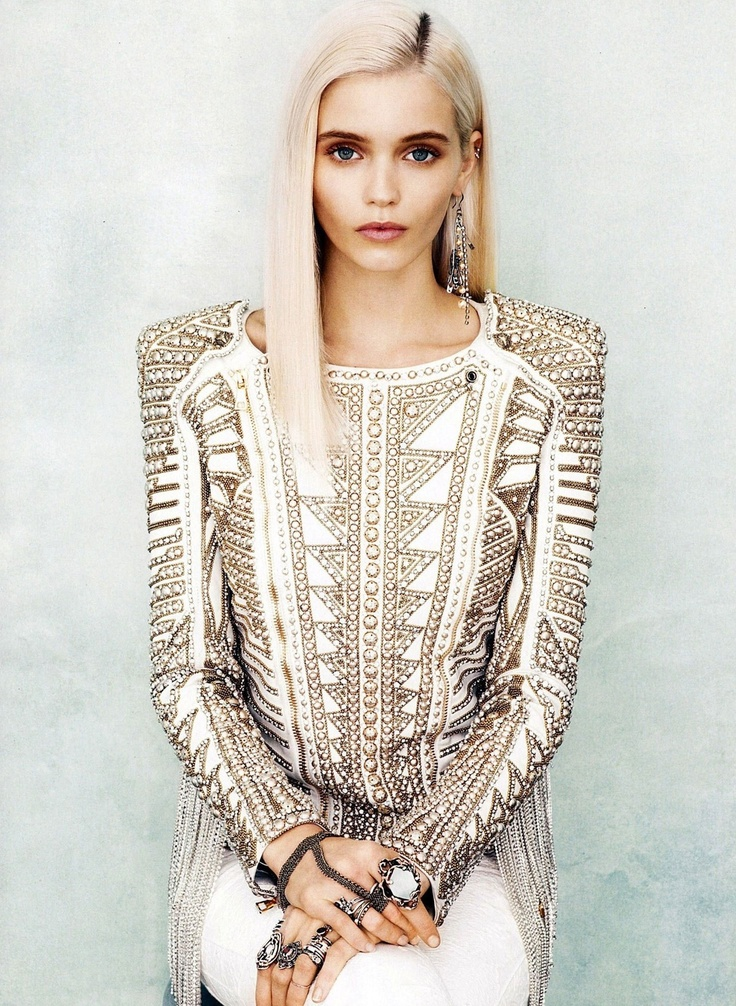 shinyStuds, Balmain, Fashion, Abbie Lee, Abbeyleekershaw, Style, Jackets, Hair, Abbey Lee Kershaw