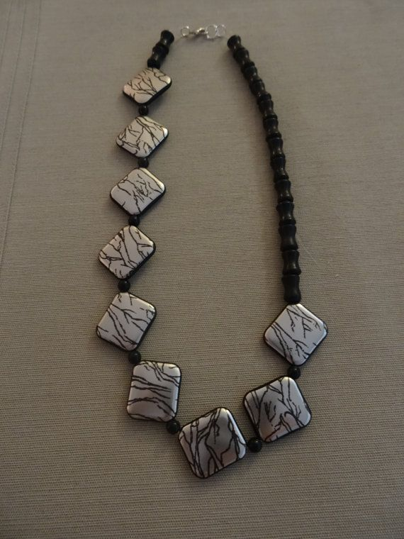 Asymmetrical Statement Necklace Silver and by YoungOliveJewelry