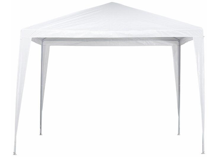 Witte partytent 3 x 3 meter. Met polyester doeken stalen frame. Excl.zijwanden. #tuin #partytent #tuinfeest #KwantumLente
