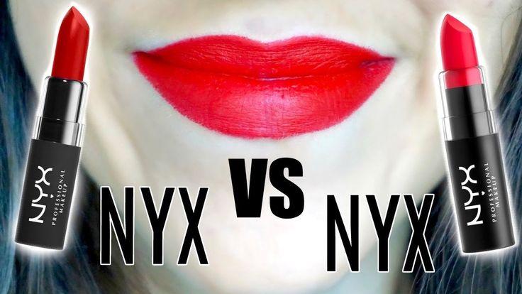 NYX Matte Lipstick VS NYX Velvet Matte Lipstick || Half Half Review & We...