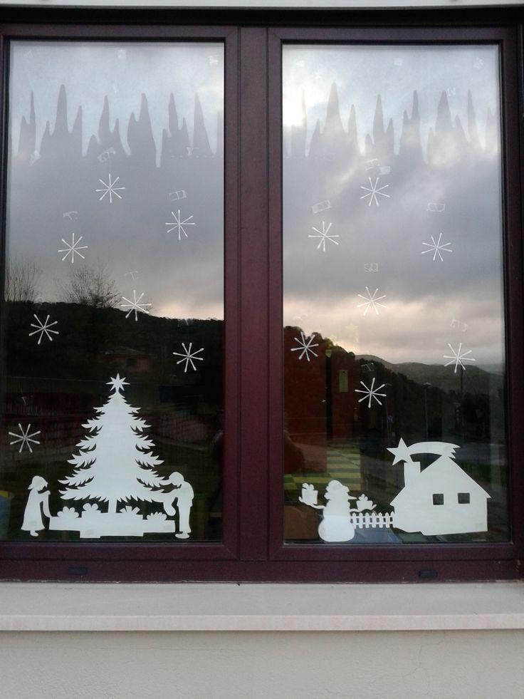 17 migliori idee su attivit di pittura per bambini su - Decorare le finestre per natale ...