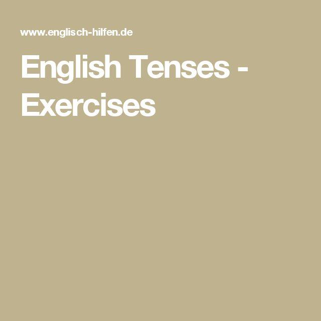 English Tenses - Exercises