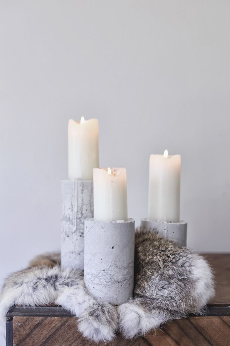 M A K E I T / concrete candles #home #interior #decoration