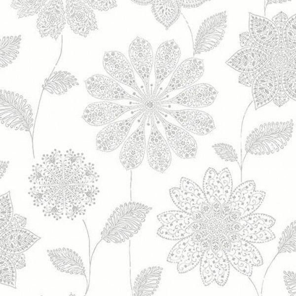 Panache Grey Floral Wallpaper 2716-23850