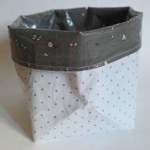 17 meilleures id es propos de bacs de rangement en tissu for Panier de rangement table a langer