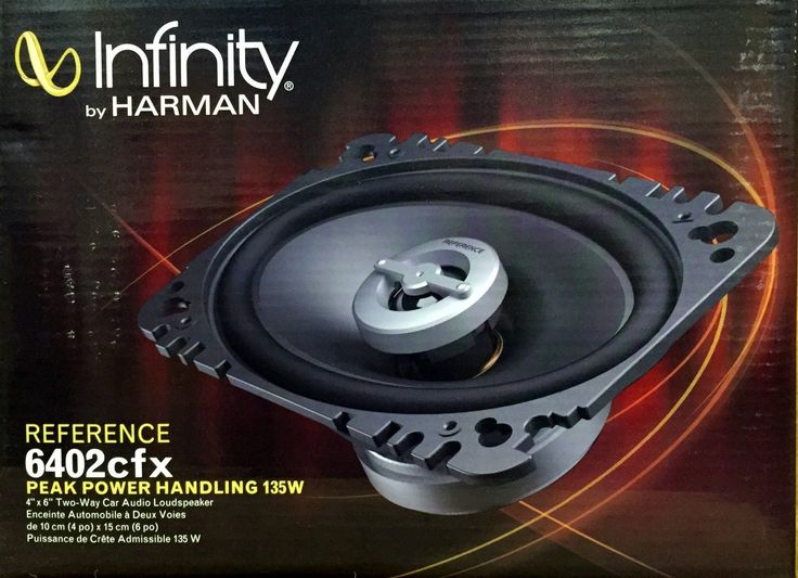 Car Speakers and Speaker Systems: New Infinity 6402Cfx Reference Series 4X6 2-Way Car Audio Speakers (1-Pair) BUY IT NOW ONLY: $64.9