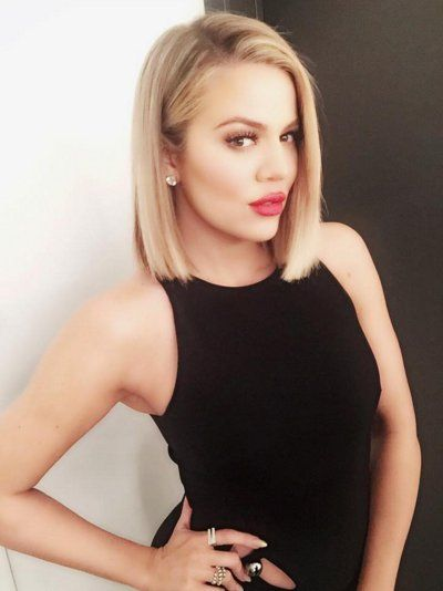 Khloé Kardashian Has a Sleek New Blond Bob Haircut