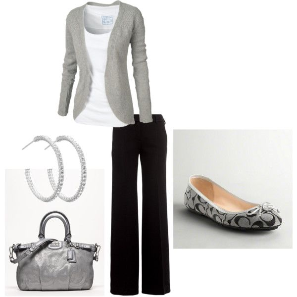 """Interview Look"" by samijoeb on Polyvore- this is definitely me (except with heels) :)"