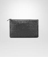 Shop Bottega Veneta® Women's MEDIUM DOCUMENT CASE IN ARGENTO OSSIDATO INTRECCIATO GROS GRAIN. Discover more details about the item.