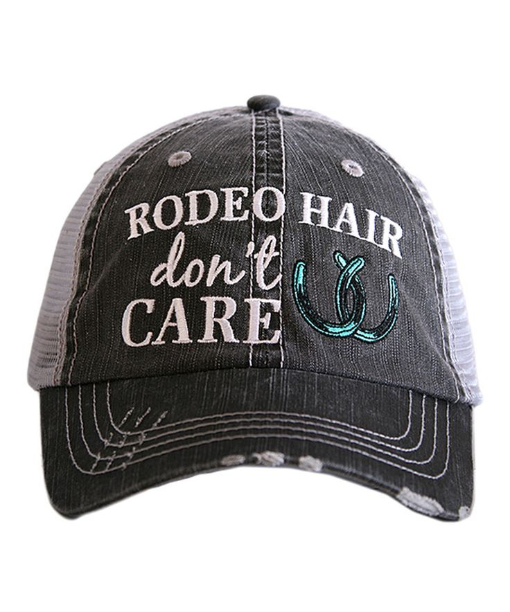 Loving this Katydid Collection Gray & Mint 'Rodeo Hair' Trucker Hat on #zulily! #zulilyfinds