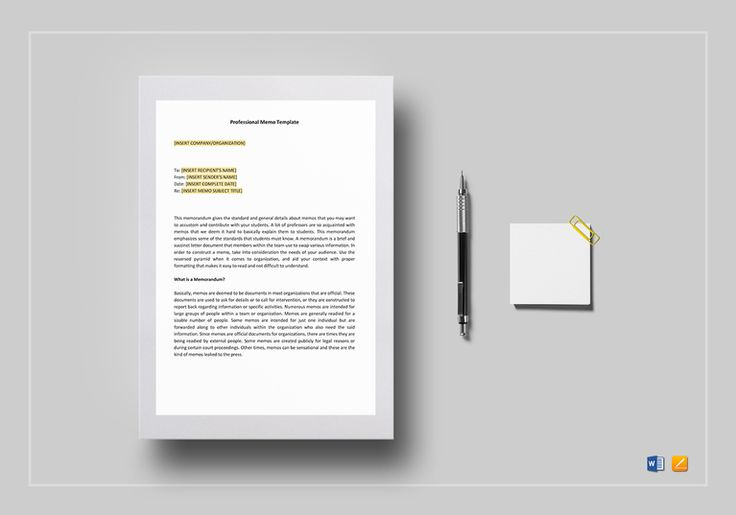 Professional Memo Template  $12  Formats Included : Pages, MS Word File Size : 8.27x11.69 Inchs, 8.5x11 Inchs #ProfessionalMemo #Documents #Documentdesigns #Memodesigns #MemoTemplates