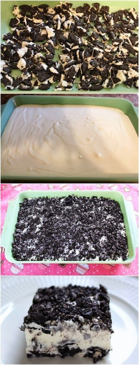 How To Oreo bars looks super easy!