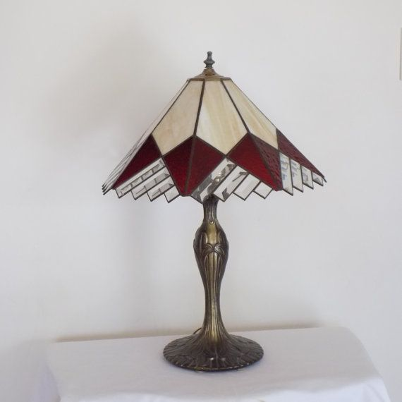 Magnificent Stained Glass Vintage Table Lamp - Art Deco Mid Century Decor - Tiffany Lamp Style - Living Room Bedroom Office Lighting