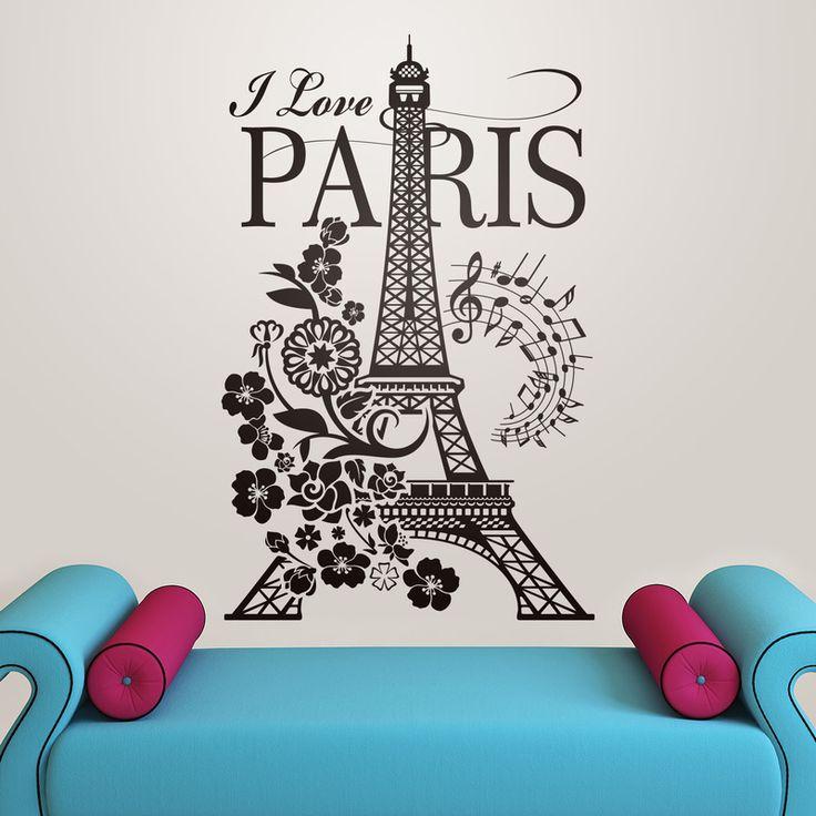 I Love Paris - VINILOS DECORATIVOS