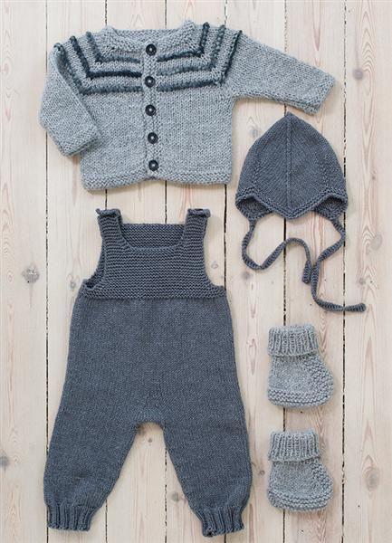 1313: Modell 8 (jakke og sko) #strikk #alpakka #fritidsgarn