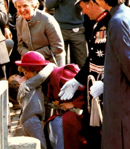 "2 April 1982 Princess Diana in Liverpool when 3 year old Colin Griffiths threw his arm around diana and told her ""I love you"""