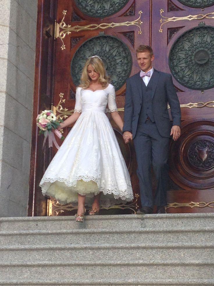 Tea length Wedding Dress vintage style