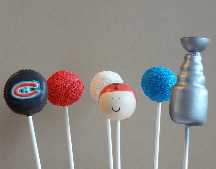 Hockey Cake Pops! What will they think of next?