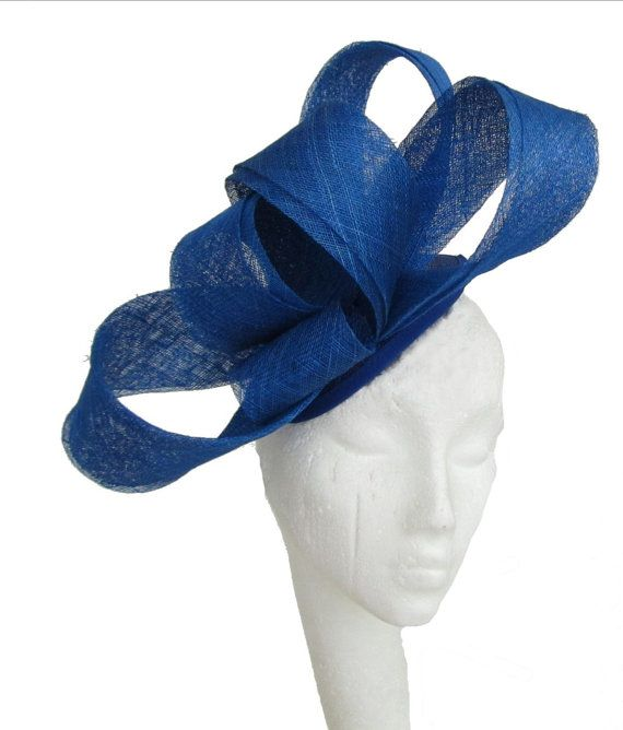 Royal Blue Fascinator Hat for Weddings Occasions and Parties