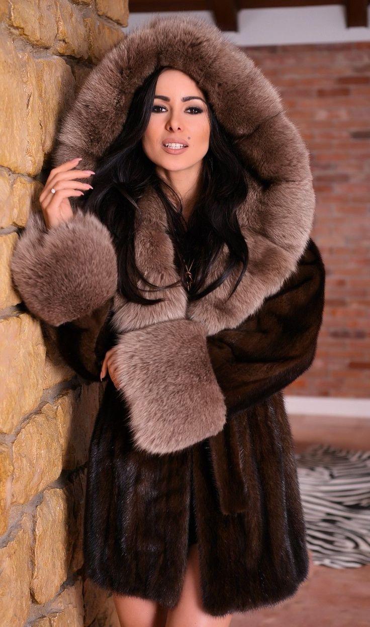 NEW SAGA MINK FUR COAT HOOD FOX CLASS- RUSSIAN SABLE CHINCHILLA LONG JACKET VEST   eBay