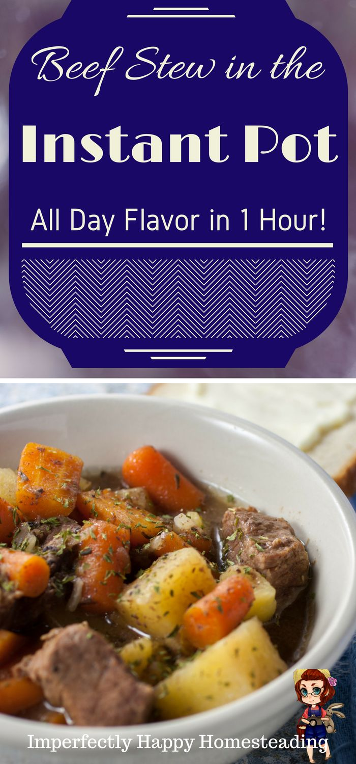Fast & Easy Instant Pot Beef Stew. All day flavor in only 1 hour.