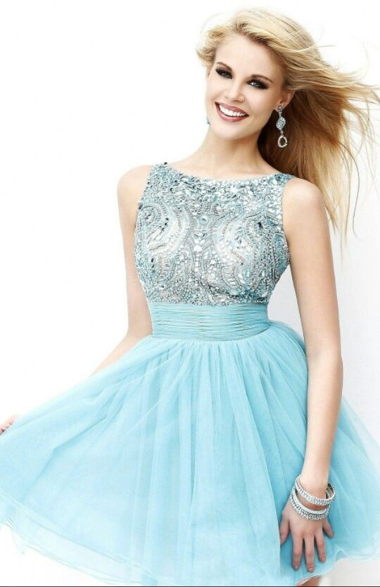 New Arrival 2014 Style A-line Scoop Sleeveless Short/Mini Tulle Sex Homecoming  Dresses