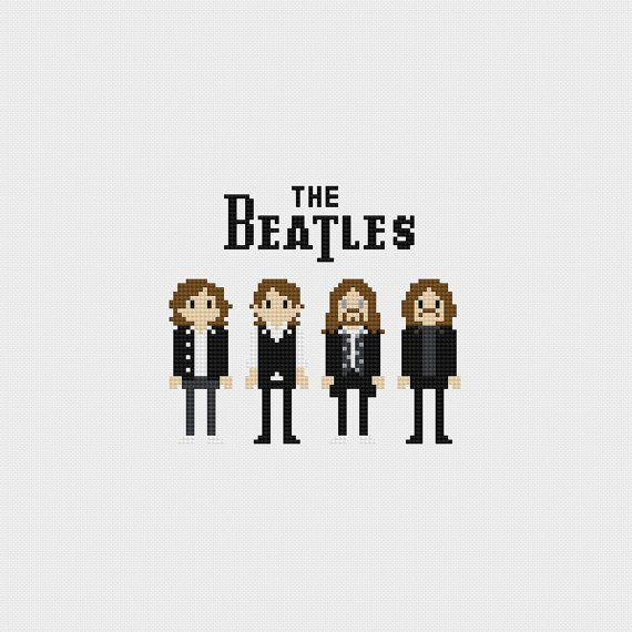 The Beatles Cross Stitch Pattern PDF Instant от pixelsinstitches