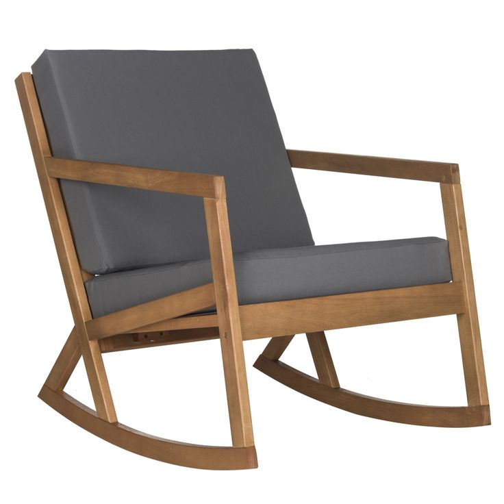 with a nod to handcrafted shaker this elegant outdoor rocking chair