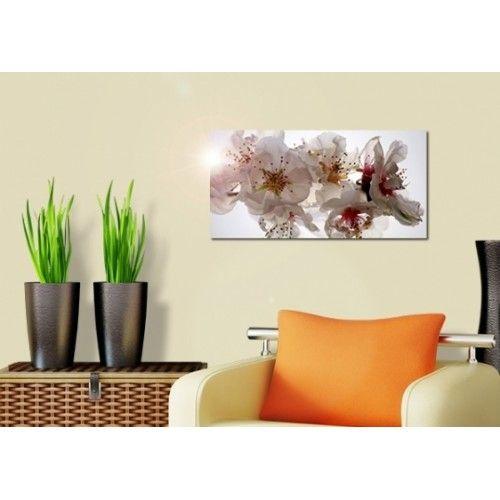 Virágos falikép, fekvő kép