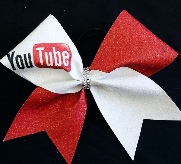 You Tube Social Media Cheer Bow