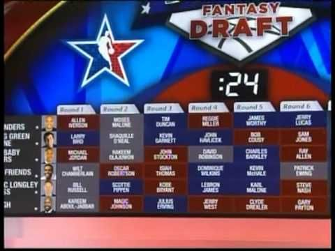 NBA greatest players of all time draft - YouTube