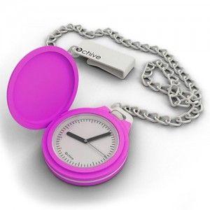Relógio de bolso rosa!