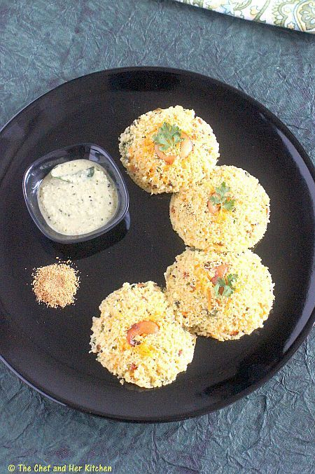 THE CHEF and HER KITCHEN: INSTANT OATS IDLI RECIPE | INDIAN OATS RECIPES