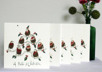 A Bobbin of Christmas Robins Card Pack - by Anna Wright