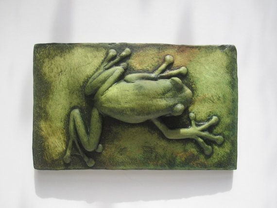 Tree Frog Colorful Cute Climbing Wallsculpture por SculptureGeek