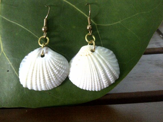 Shell Earrings JewelryShell Jewelry Shells by SeaKrakensTreasures, $5.99