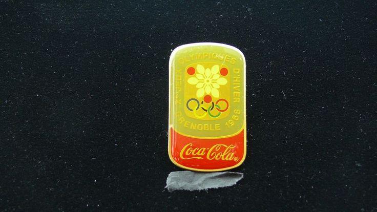 Grenoble 1968 Olympic Coca-Cola Reproduction Pin 1983 Ho Ho Int'l Pinback