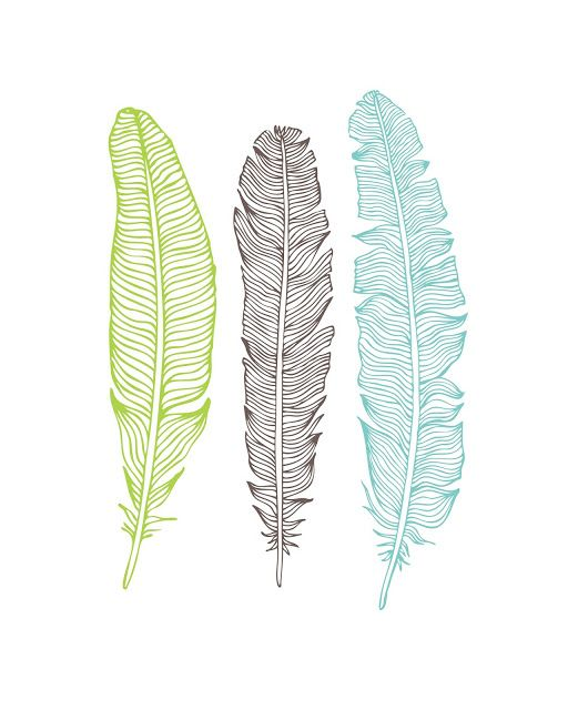 oh so lovely free feather printables 5 designs - Pictures To Print For Free