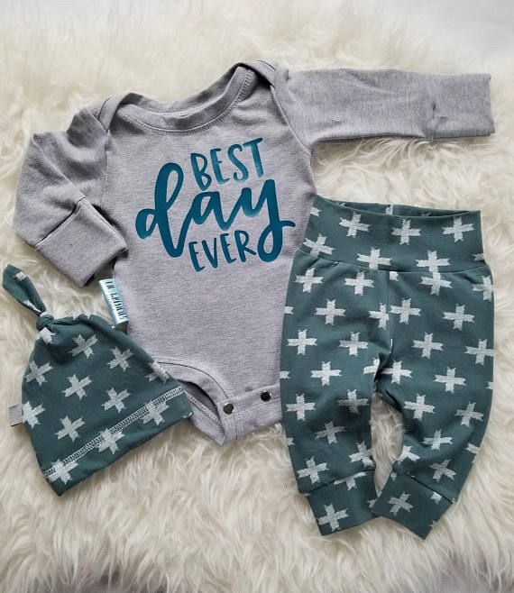Newborn baby boy coming home outfit  Boy clothes  Take home