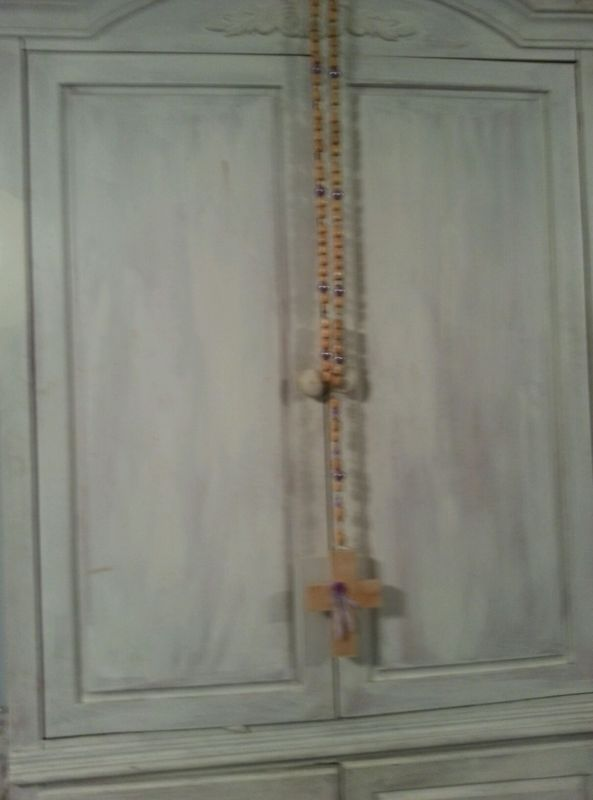 Oversized shabby chic rosary for sale on ebay