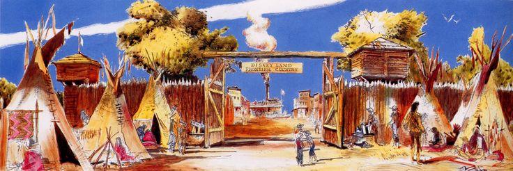 Frontierland, Disneyland - Herb Ryman